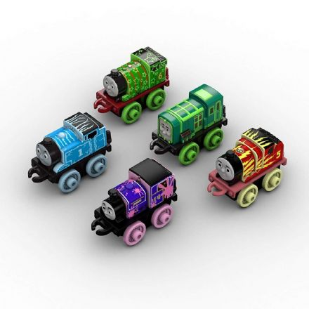 Thomas & Friends Minis Glow in The Dark Set of 5 Trains, Multicolour